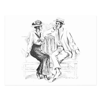 Romantische Paare Postkarte