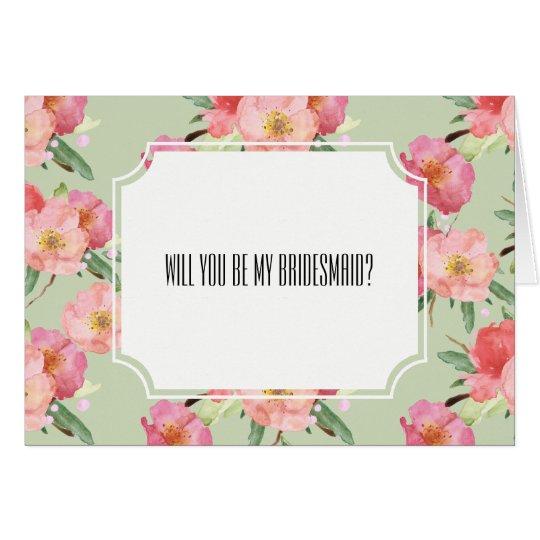 Romantische rosa mitteilungskarte