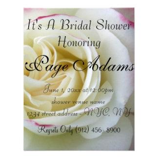 Romantische Rose blüht Brautparty-Einladung