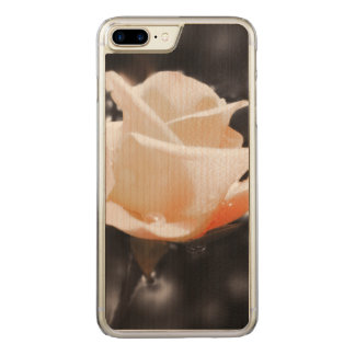 Romantische Rosen-Blumen Carved iPhone 8 Plus/7 Plus Hülle