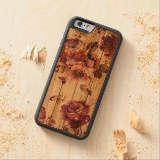 Romantische rustikale Rosen auf hölzernem iPhone Bumper iPhone 6 Hülle Kirsche