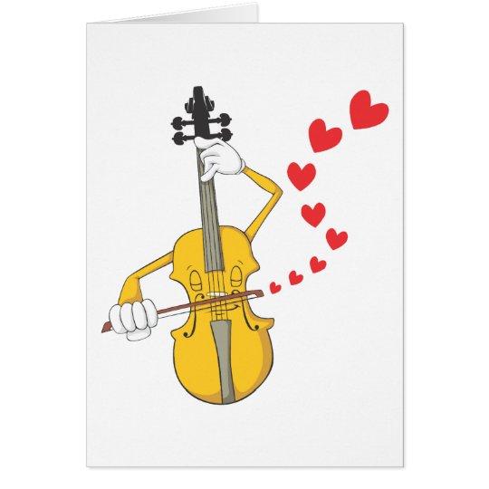 Romantische Serenading Violine Grußkarte