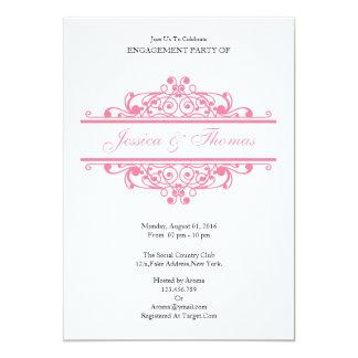 Romantische Verlobungs-Party Einladungs-Karte 12,7 X 17,8 Cm Einladungskarte