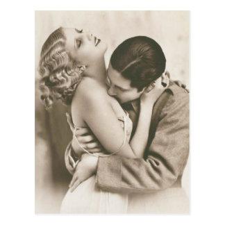 Romantische Vintage Paare Postkarte