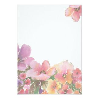 Romantische Watercolor-Hochzeits-Blumen Karte