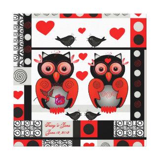 Romantischer Hochzeits- oder Valentinsgrußdruck mi Galerie Falt Leinwand