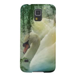 Romantischer See-schwimmende weiße Schwäne Hülle Fürs Galaxy S5
