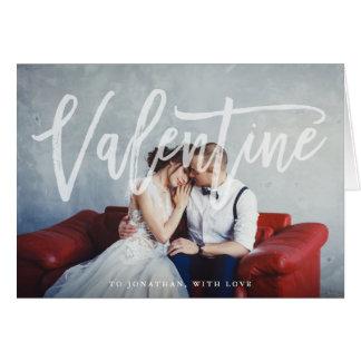 Romantischer Skript| Valentine mit Foto Karte