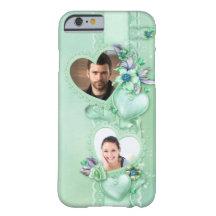 Romantischer tadelloser grüner Foto-Herzen iPhone