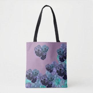 Romantischer Vintager Blumendruck Tasche