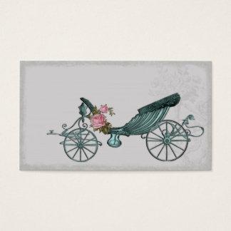 Romantischer Wagen im Grau Visitenkarte