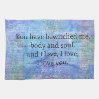 Romantischer Zitat Jane Austens Herr Darcy Handtuch