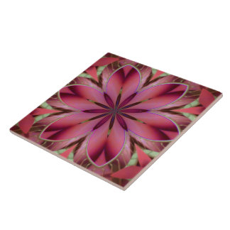 Romantisches Blumen Große Quadratische Fliese