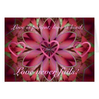 Romantisches Blumen Karte