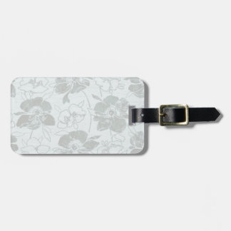 Romantisches Blumenblau/-GRAU Gepäckanhänger