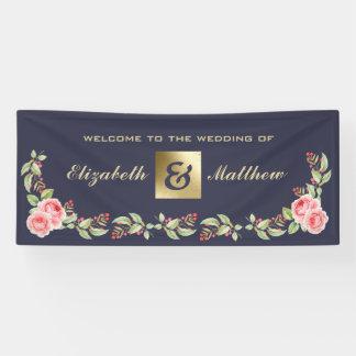 Romantisches Blumenmuster-große kundenspezifische Banner