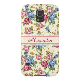 Romantisches Blüte Pastellrosa, Rot, blauer Samsung S5 Cover