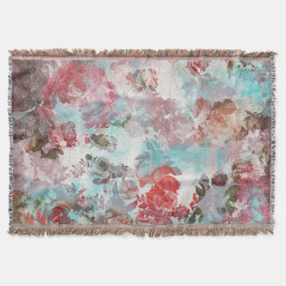 Romantisches Chic-Rosaaquamarines Watercolor-mit Decke