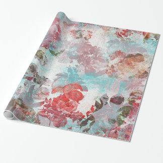 Romantisches Chic-Rosaaquamarines Watercolor-mit Einpackpapier