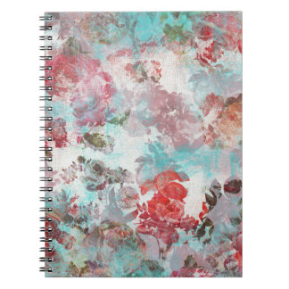 Romantisches Chic-Rosaaquamarines Watercolor-mit Notizblock