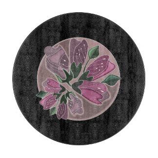Romantisches Chic-Schwarzes und rosa Vintager Schneidebrett