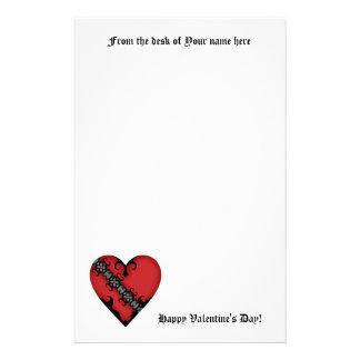 Romantisches gotisches mittelalterliches rotes briefpapier