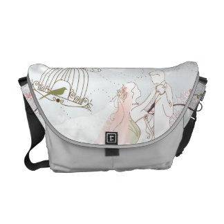 romantisches Hochzeitstaschensilber Kurier Taschen