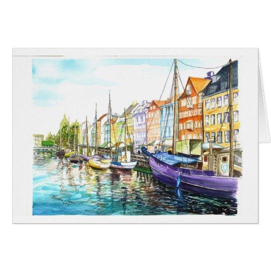 Romantisches Kopenhagen Grußkarte