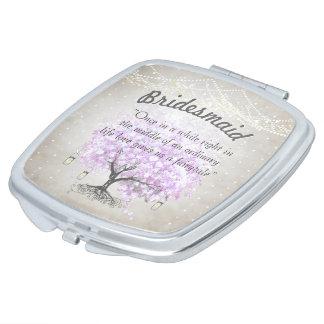 Romantisches Lavendel Hearleaf Schminkspiegel