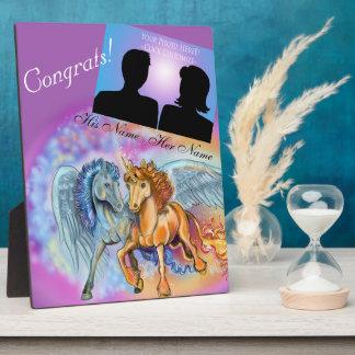 Romantisches ~plaque Einhorn des Winds und der Fotoplatte
