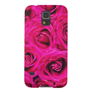 Romantisches rosa lila Rosen-Muster Samsung S5 Cover