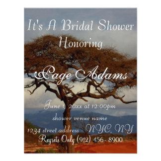 Romantisches Safari-Afrika-Brautparty Einladungskarte