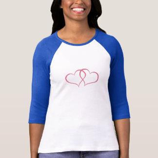 Romantisches Schatz-Rosa-Rosa T-Shirt