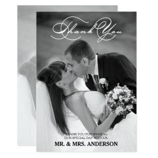Romantisches Skript Wedding | danken Ihnen 12,7 X 17,8 Cm Einladungskarte
