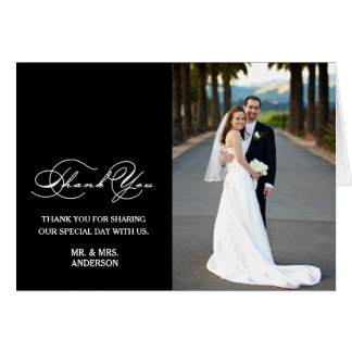 ROMANTISCHES SKRIPT WEDDING %PIPE% DANKEN IHNEN MITTEILUNGSKARTE