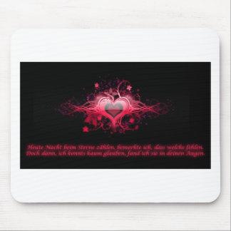 Romantisme dans roses vifs tapis de souris