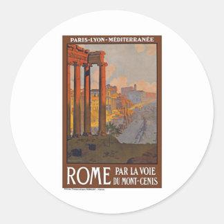 Rome vintage Italie Adhésif Rond