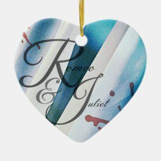 Romeo- u. Julietherz-Verzierung Keramik Ornament