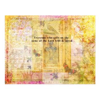 Römer-10:13 inspirierend Bibel-Verskunst Postkarte