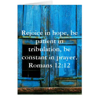 Römer-12:12 Bibel-Vers über Hoffnung Karte