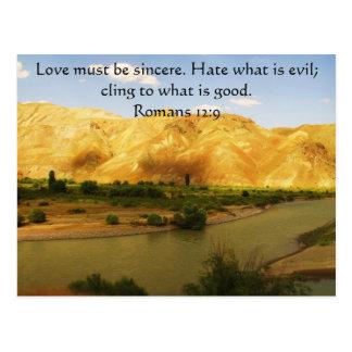 Römer-12:9   inspirierend Bibel-Vers Postkarte
