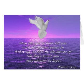 Römer-15:13 Hoffnungs-Bibel zitiert Karte