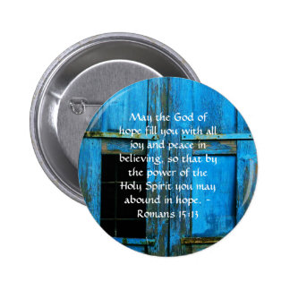 Römer-15:13 inspirierend Bibel-Verse Runder Button 5,1 Cm