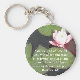 Römer-15:13 inspirierend Bibel-Verse Schlüsselanhänger