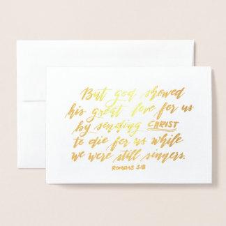 Römer-5:8 Folienkarte