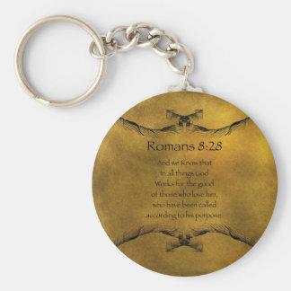 Römer-8:28 Schlüsselanhänger