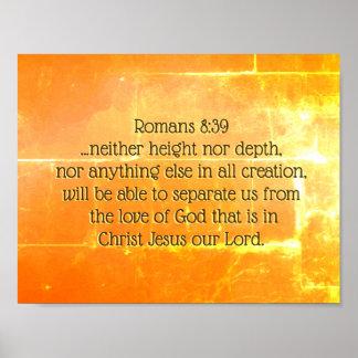 Römer-8:39 die Liebe des Gottes in Christus Jesus, Poster