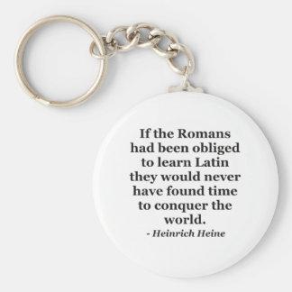 Römer lernen lateinisches Zitat Schlüsselanhänger
