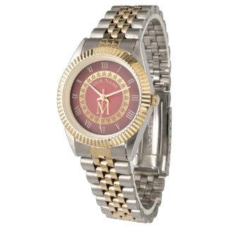 Römische Art-Gewohnheits-Monogramm Uhr