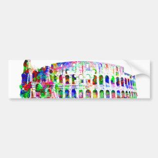 Römische Colosseum bunte Architekturprodukte Autoaufkleber